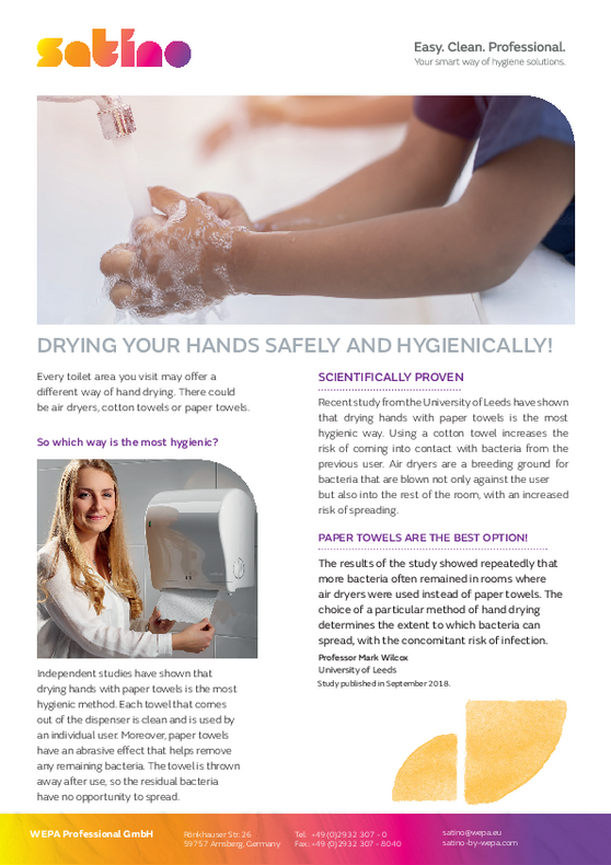 Drying your hands safely and hygienically